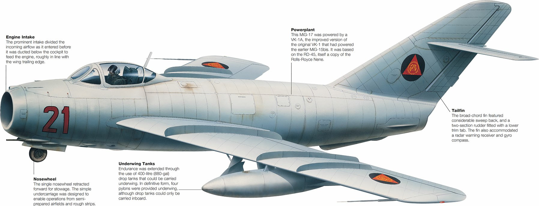 Mais de 10.000 unidades da série MiG-17 foram produzidas e serviram em várias forças aéreas.