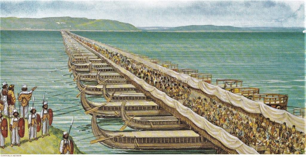 Persian Empire Darius Blocking Xerxes' Inv...